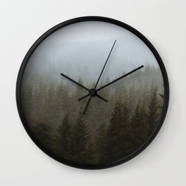 Snowy Forks Forest Wall Clock