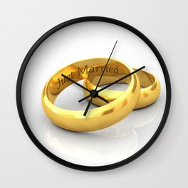 Just married Wall Clock