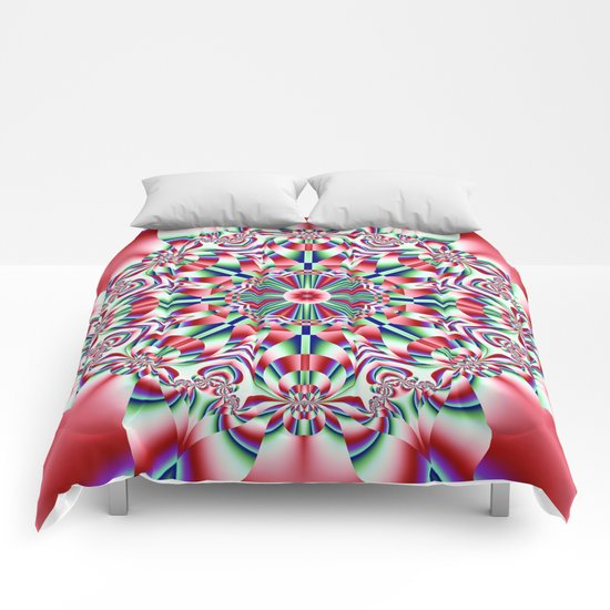 Decorative colourful patterns in a kaleidoscope design Comforters