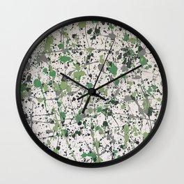 Galaxies of Green Wall Clock
