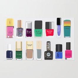 My nail polish collection art print Rug