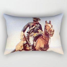 "Frederic Remington Western Art ""Buffalo Soldier"" Rectangular Pillow"