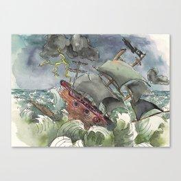 Dark and Stormy Night Canvas Print