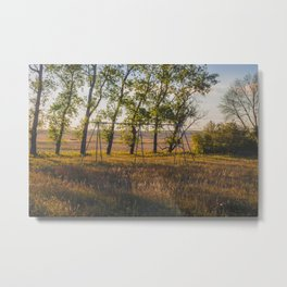 Swing Set, Grass Lake School, North Dakota 2 Metal Print