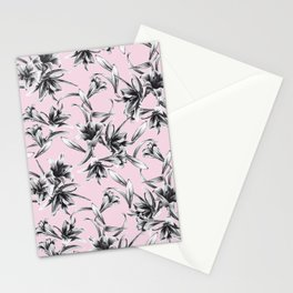 Lilium Pattern in rose Stationery Cards