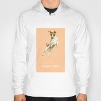 jack russell Hoodies featuring Jack Russell by Katherine Coulton
