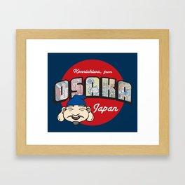 Konnichiwa from Osaka, Japan (Dotonbori) Framed Art Print