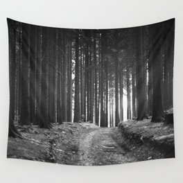 Forest (Black and White) Wall Tapestry