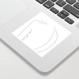 Minimal line drawing of women's body - Alex Sticker