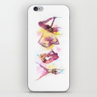 yoga iPhone & iPod Skins featuring YOGA by Dead Love Junkies