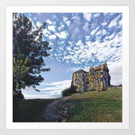 Calton Hill Mosaic Art Print
