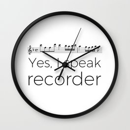I speak recorder Wall Clock