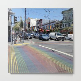 Colorful Place Full of Colorful People Metal Print