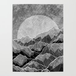 Mountains of silver and grey Poster