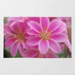 Tina's Garden: Pink Flower Rug