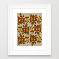 turtles Framed Art Prints featuring Turtles by Olya Yang