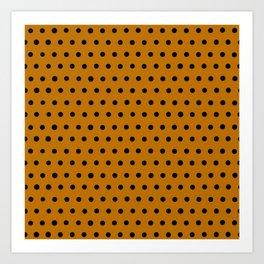 Butterscotch polka dots Art Print