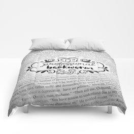 Professional Bookworm Paper Comforters