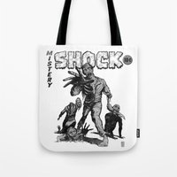 zombies Tote Bags featuring Zombies by Christian G. Marra
