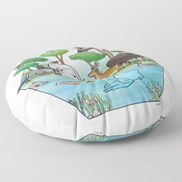 wildlife of cambodia Floor Pillow