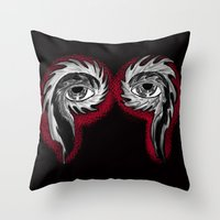 tool Throw Pillows featuring Tool Aura by SnowVampire