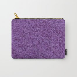 Lavender Spiral Pattern Carry-All Pouch