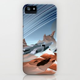 Steel and Rock iPhone Case