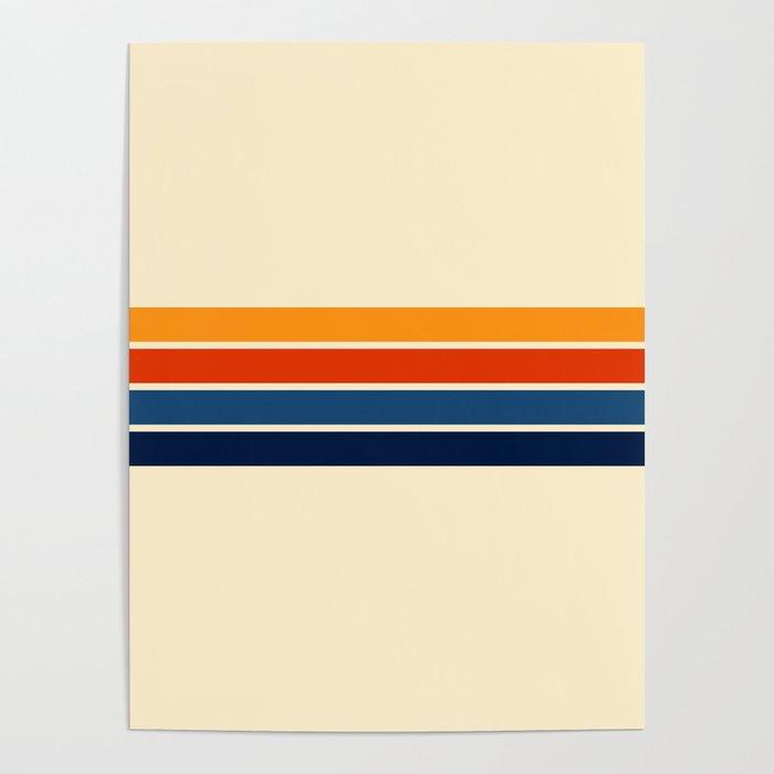Classic Retro Stripes Poster