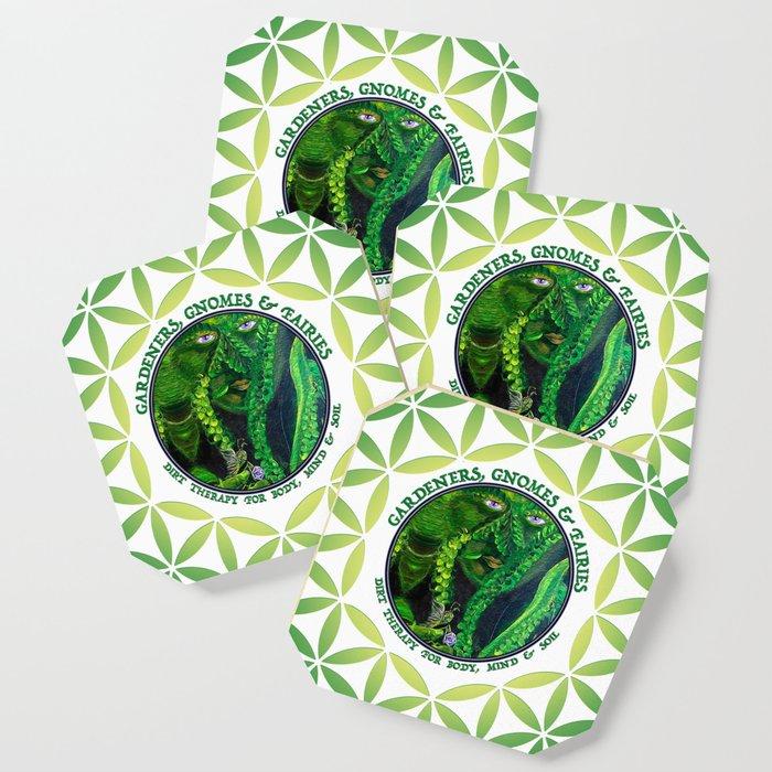 Garden Guardian Gnome in Spring Greens Coaster