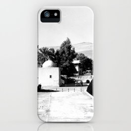 The lakefront at Galilee. Tiberias. 1945 iPhone Case