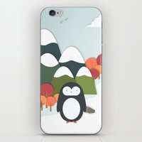 biology iPhone & iPod Skins featuring South Pole by General Design Studio