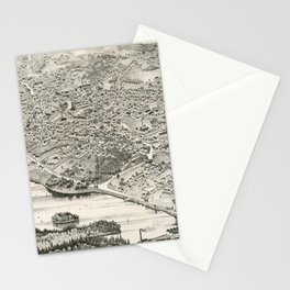 Vintage Pictorial Map of Woburn MA (1883) Stationery Cards