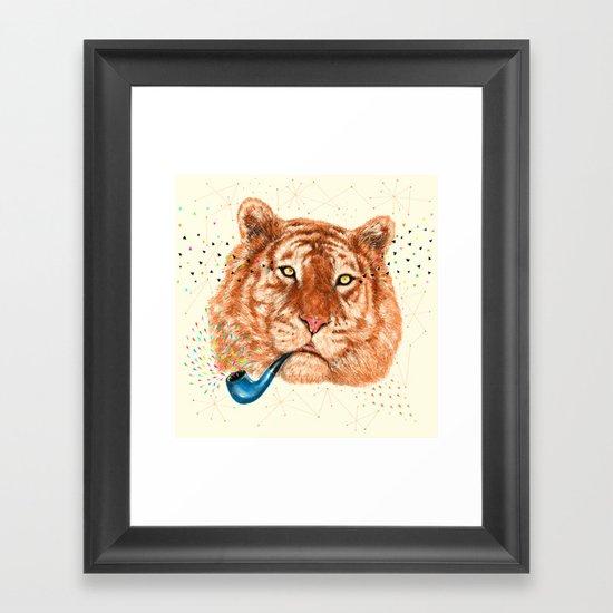 TIGER CRY I Framed Art Print