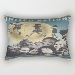 Vintage poster - United Nations Rectangular Pillow