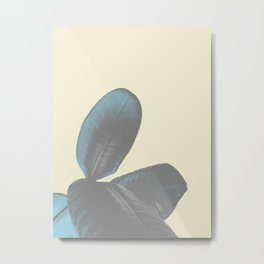 Ficus Elastica #5 #pastel #yellow #art #society6 Metal Print