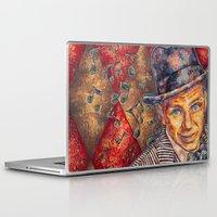 frank sinatra Laptop & iPad Skins featuring Frank Sinatra  by Sara Elyse Lehtman