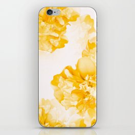 Beautiful Peony Flowers White Background #decor #society6 #buyart iPhone Skin