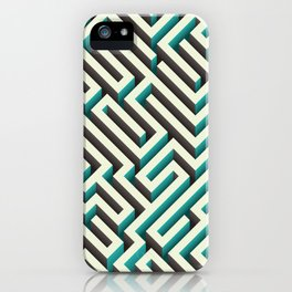 Cyan Maze iPhone Case