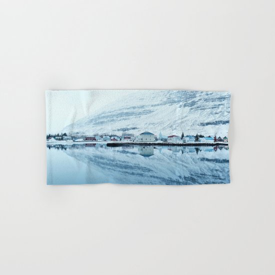 Houses by the water reflect Hand & Bath Towel