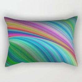 Colorful distortion Rectangular Pillow