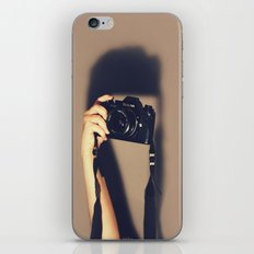 Taking pictures of you iPhone & iPod Skin