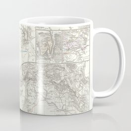 Old 1865 Historic State of Palestine Map Coffee Mug