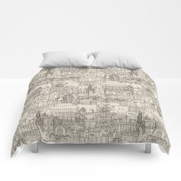 Edinburgh toile natural Comforters