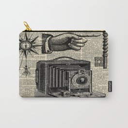 nautical compass dictionary print steampunk skeleton keys antique camera Carry-All Pouch