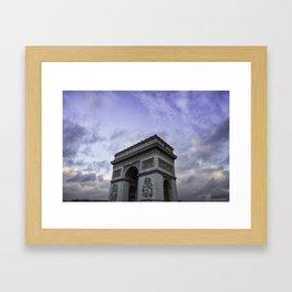 The Arc de Triomphe de l'Etoile Framed Art Print