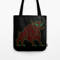 ghostbusters Tote Bags featuring zuul - ghostbusters by Jon Boam