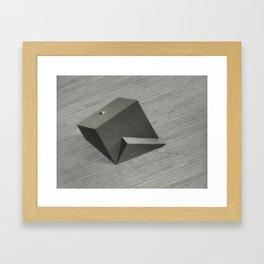 Reflected Cube Framed Art Print