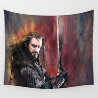 thorin Wall Tapestries featuring Thorin by Wisesnail