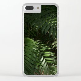 Heavy Leaves Clear iPhone Case