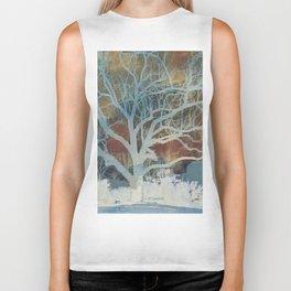 """"""" Walnut Tree In Winter """" Biker Tank"""